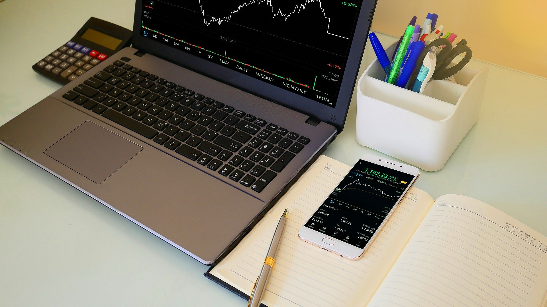 The instruments of forex trader