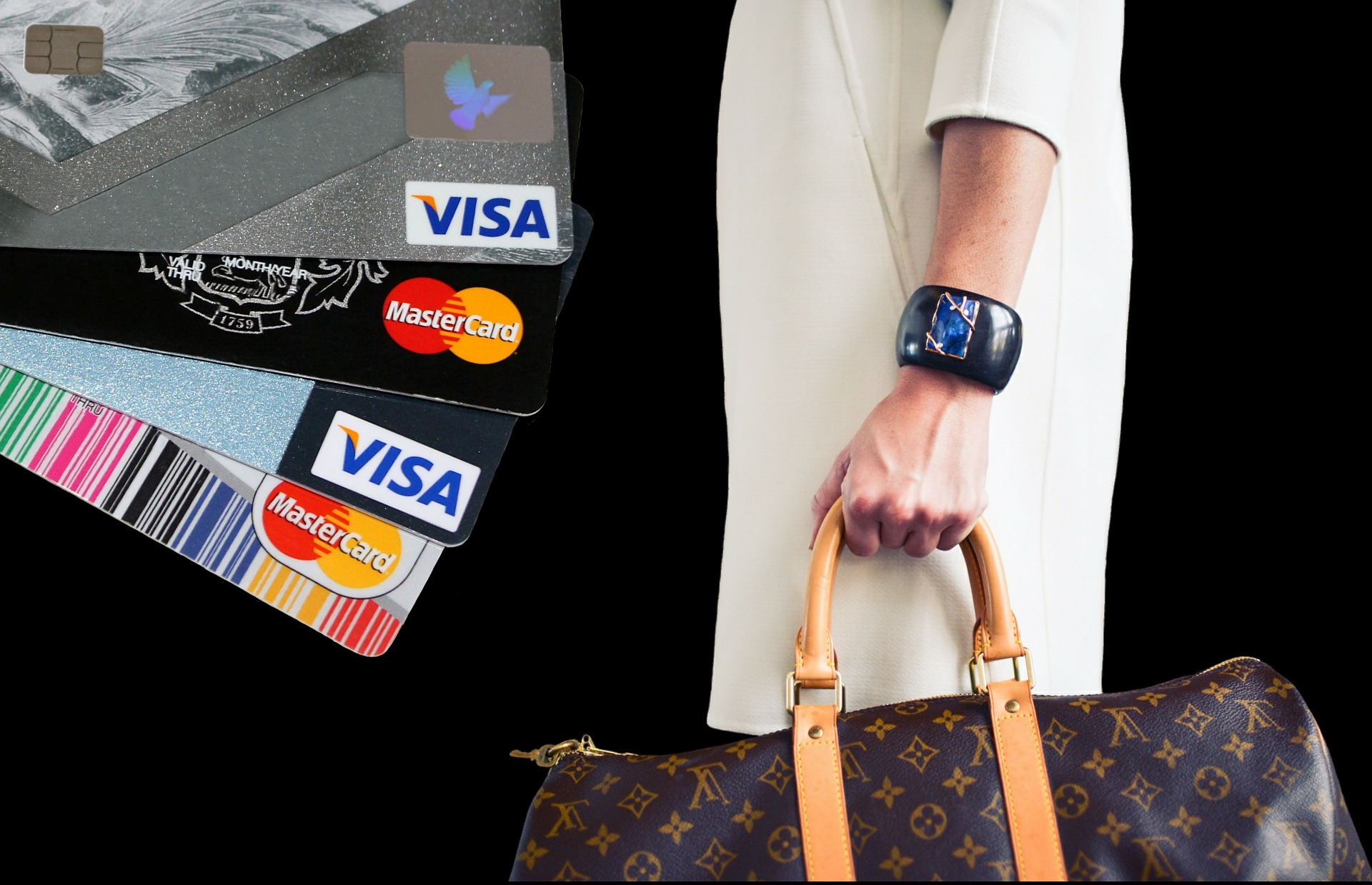 Shoping process with credit cards